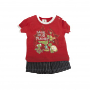 Baby Boys Save Our Planet Animal Design Short Sleeve T-Shirt And Shorts Set