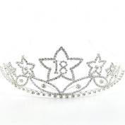 Large Crystal/Diamante 18th Birthday Tiara - Star Design