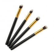 Comesitcs Brushes White Professional Brushes Sets 4Pcs/ set Facial and Eyeshadow Pencil Brushes Soft Synthetic Makeup M0299