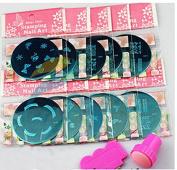 Goliton® Nail art image plates set 10 image plates+ 1PCS stamp+1PCS scrape