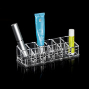 TRIXES Clear Acrylic Desk Cosmetic Lipstick Holder Makeup Organiser