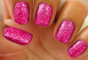 SUPER FINE NAIL ART HOT PINK IRIDESCENT GLITTER. FAIRY DUST CHRISTMAS SPRINKLES SNOWBALL MANICURE FRENCH TIP SPARKLE NAIL ART 8G SET CAN BE USED WITH NATURAL/GEL/ACRYLIC/STICK ON NAILS! USE ALONE OR WITH WATER TRANSFERS STICKERS DECALS 3D CAVIAR BEADS ..