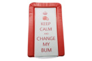 BABY CHANGING MAT - KEEP CALM & CHANGE MY BUM - RED COLOUR - UNISEX - LUXURY PADDED & WATERPROOF