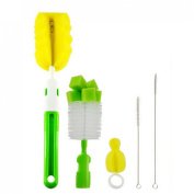 Andux Zone 5pcs Baby Bottle & Tube Brush Cleaning Set-With Nipples Cleaner and Straw Brush NPS-01