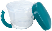 NUK 10255200 Easy Learning Snack Box Practical Storage for Small Snacks On the Go with Lid BPA-Free Petrol Blue