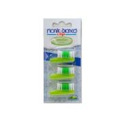 Monte Bianco Brush Heads (3) Nylon,Sensitive, Green - PRA2542010