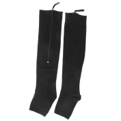 1 Pair of Women's Open Toe Zippered Compression Socks Stockings