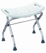 AgingCare stable bathtub & shower stool in white, folding and adjustable in height