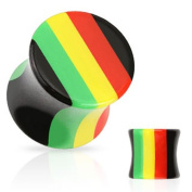 Rasta Saddle Plug / Ear Stretcher - 3mm