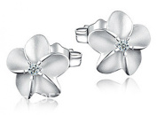 Lily Jewellery Fashion Ladies Rose 3D Floral Shaped S925 Sterling Silver Daisy Stud Earings for Women