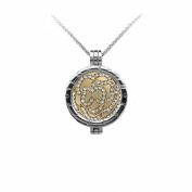 I Love You Always 33mm Interchangeable Silver Plated Locket Pendant Medallion Holder with Coin Moneda Disc with Crystals compatible with Mi Moneda, Virtue, Emozioni Hot Diamonds, Mi iMenso and Lucet Coins and Pendants