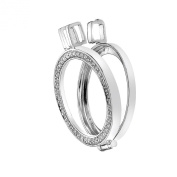 Emozioni Reversible Sterling Silver 25mm Coin Keeper Pendant