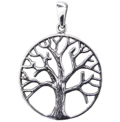 TREE OF LIFE PENDANT 925 Sterling SILVER 28mm Diameter 38mm Drop - NEW