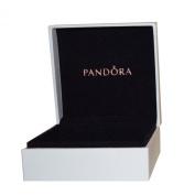 Pandora Original Black Interior Jewellery Gift Box - 9cm x 9cm x 4cm