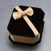 Beautiful Bowknot Flannelette Necklace Ring Earrings Display Case Storage Jewellery Gift Box Jewellery