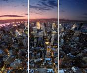 "Pro-Art gla605c-dt Glass Art Wall Picture 3 x 30 x 80 cm ""New York"""