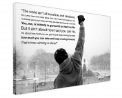 CANVAS WALL ART PRINTS ICONIC ROCKY BALBOA HOPE QUOTE BLACK AND WHITE LANDSCAPE HOLLYWOOD MOVIE PHOTO PRINT PICTURE HOME DECOR