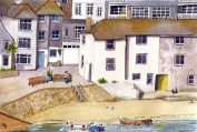 St Ives, 'Lazy Morning' Cornwall art print from a watercolour painting by Alex Pointer
