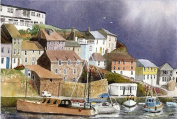 Mevagissey, Cornwall art print from a watercolour by Alex Pointer