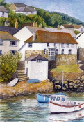 Coverack, Cornwall art print from a watercolour painting by Alex Pointer