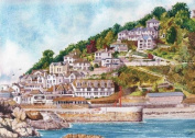 Looe, Cornwall art prints from a watercolour painting by Alex Pointer
