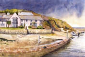 Bude Haven, Cornwall art print from a watercolour painting by Alex Pointer