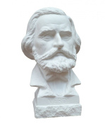 Bust of composer Giuseppe Verdi, height 19 cm, plaster