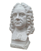 Bust of composer Georg Friedrich Händel, height 23 cm, plaster