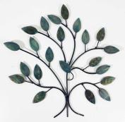 Contemporary Metal Wall Art Decor Sculpture - Cool Winter Tree Branch