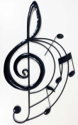 New Contemporary Metal Wall Art Decor Sculpture - Music Treble Clef Scroll