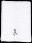Pair of Guest Towels in a Balmoral Thistle Design
