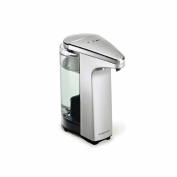 simplehuman compact touch-free sensor soap pump, automatic liquid dispenser, brushed nickel, 2 year guarantee
