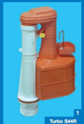 Dudley Turbo 44 28cm Syphon for Narrow Cisterns 2-part Easy Service