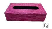 Pink & Purple Sparkle diamante Lac decorated Wooden Tissue Box 25.5cm 14cm x 7cm