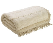 The Bettersleep Company Candlewick Bedspread King Size - Natural Luxury Traditional Bed Throws