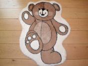 Dancing Bear Non Slip Machine Washable Sheepskin Style Kids Rug. Size 93cm x 79cm