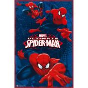 Spiderman Ultimate Fleece Blanket, Blue