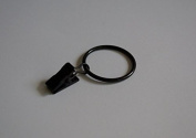 Curtain Ring Clips Ø35mm Black