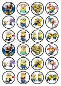 Despicable Me Edible Wafer Rice Paper 24 x 4.5cm Cupcake Toppers/Decorations