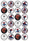 Spiderman Edible Wafer Rice Paper 24 x 4.5cm Cupcake Toppers/Decorations