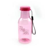 350ML Soda Bottle Leak-proof Unbreakable Travel Cycling Water Cup Pink