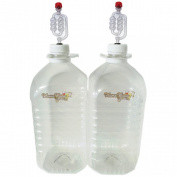 Home Brew Demijohns x 2 PET 5L With Airlocks