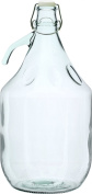 5L DEMIJOHN (CARBOY) WITH HANDLE AND SWING TOP CAP.