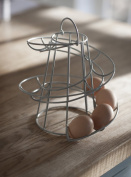 . HELTER SKELTER WIRE SPIRAL 18 EGGS SWRIL RACK HOLDER EGG RUN STAND STORAGE WITH HANDLE - BY FUSION FOOD CARE