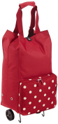 Ruby Dots & Red Foldable Shopping Trolley