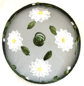 Fine Mesh Food Cover With Daisy 30cm By Gisela Graham