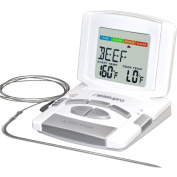 MeasuPro DCT350 Instant Read Programmable Digital Cooking Thermometer with Stainless Steel Probe, White