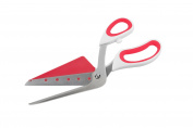 GP & me Stainless Steel Pizza Scissors Heat Resistant Nylon Server, Red and White