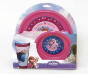 Disney Frozen Children's Meal Time Set Plate, Bowl and Beaker Elsa, Anna & Olaf