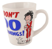 Betty Boop White Coffee Mug Tea Cup I Don't Do Mornings Design with puppy dog